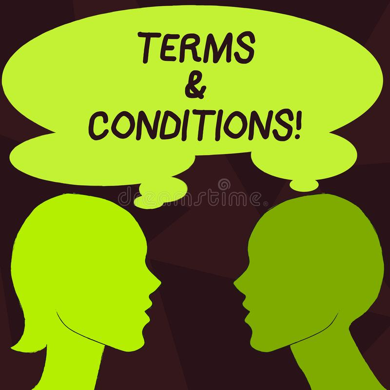 Handwriting text Terms And Conditions. Concept meaning Legal Law Agreement Disclaimer Restrictions Settlement. Handwriting text Terms And Conditions. Conceptual stock illustration