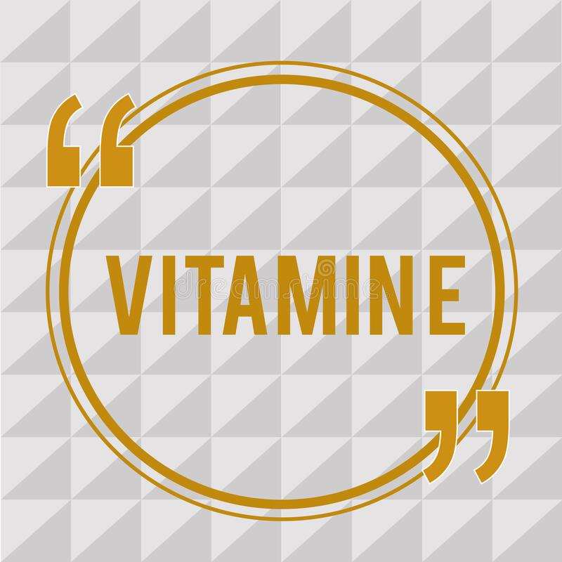 Handwriting text Vitamin E. Concept meaning Antioxidant Protects body tissue from damage caused by substances.  vector illustration
