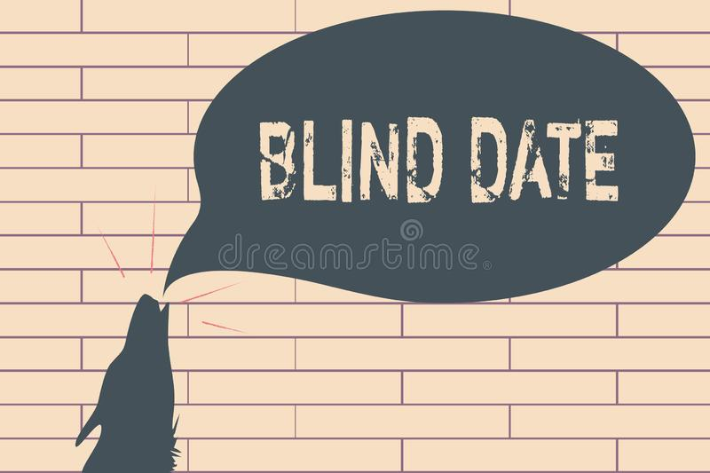 Handwriting text writing Blind Date. Concept meaning Social engagement with a demonstrating one has not previously met.  vector illustration