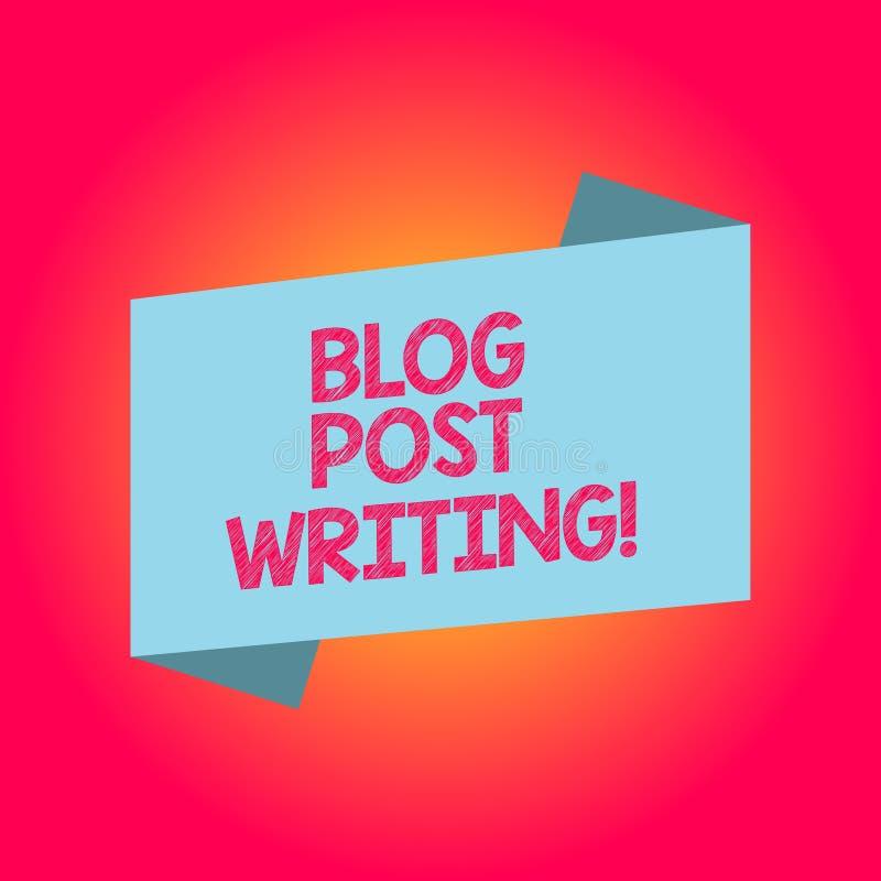 Handwriting Text Writing Blog Post Writing. Concept