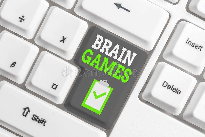 Handwriting text writing Brain Games. Concept meaning psychological tactic to analysisipulate or intimidate with. Handwriting text writing Brain Games stock images