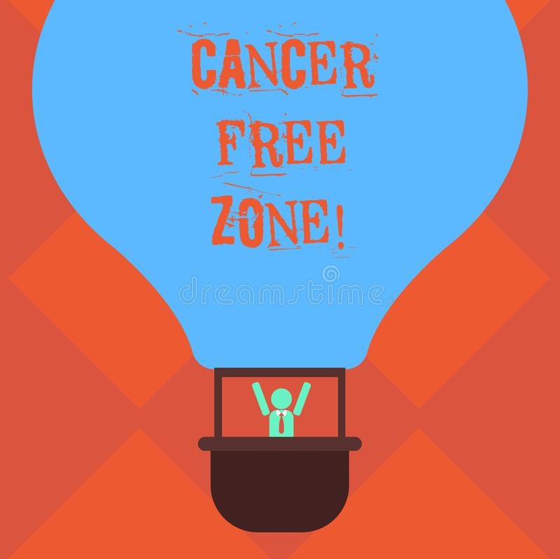 Handwriting text writing Cancer Free Zone. Concept meaning club for educating showing about means of cancer prevention vector illustration