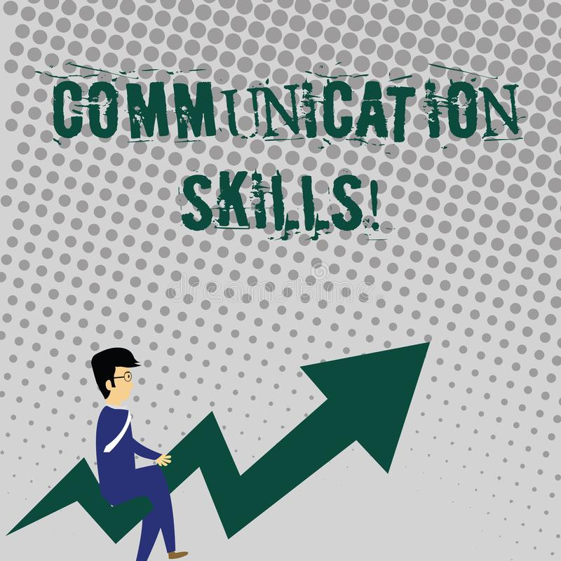 Handwriting text writing Communication Skills. Concept meaning ability to convey information to another effectively. Handwriting text writing Communication stock illustration