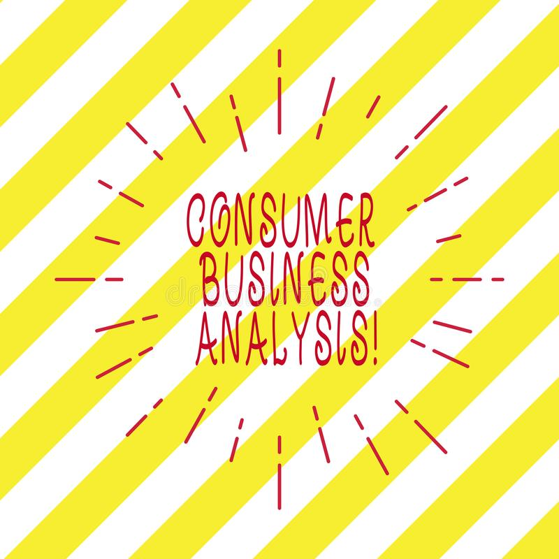 Handwriting text writing Consumer Business Analysis. Concept meaning collect information on the target market s is needs Thin Beam. Lines Spreading out Dash of royalty free stock image