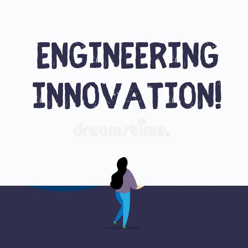 Handwriting text writing Engineering Innovation. Concept meaning Process expressed in Logic and Mathematical Form Back. Handwriting text writing Engineering stock illustration