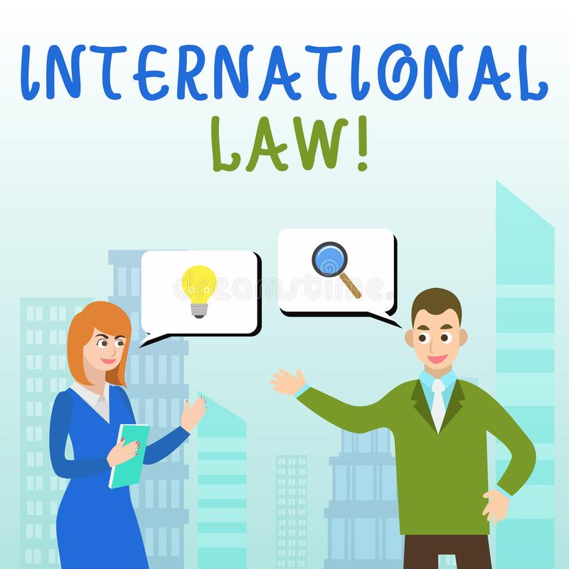 Handwriting text writing International Law. Concept meaning system of treaties and agreements between nations Business. Handwriting text writing International vector illustration