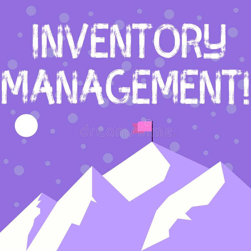 Handwriting text writing Inventory Management. Concept meaning supervision of noncapitalized assets and stock items. Handwriting text writing Inventory vector illustration