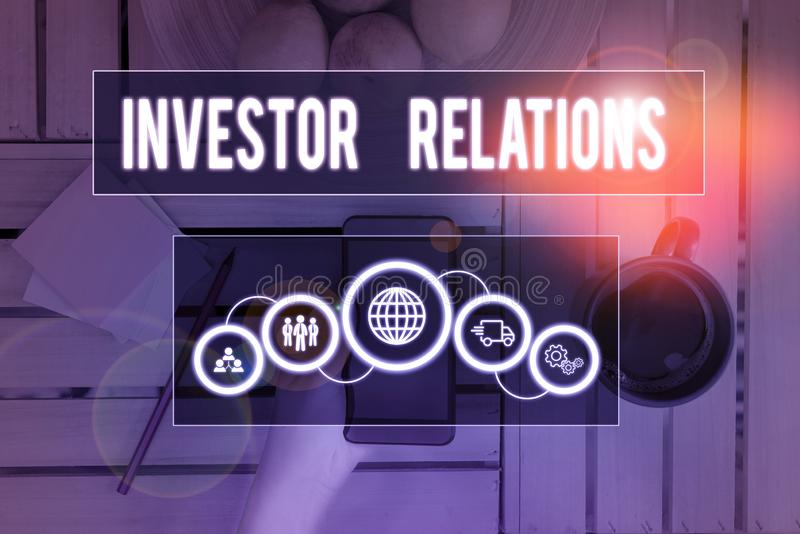 Handwriting Text Writing Investor Relations. Concept ...