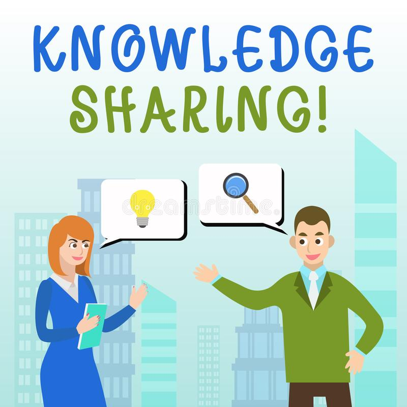 Handwriting text writing Knowledge Sharing. Concept meaning deliberate exchange of information that helps with agility. Handwriting text writing Knowledge royalty free illustration