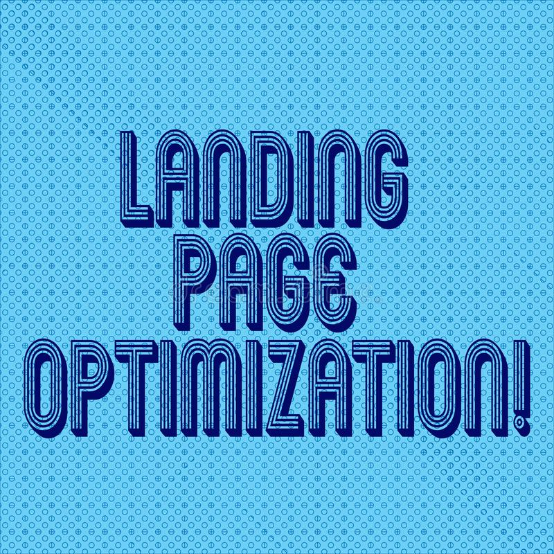 Handwriting text writing Landing Page Optimization. Concept meaning Improve elements of a website to rise conversion Seamless Dots. Tiny Loop Rings Scattered stock illustration