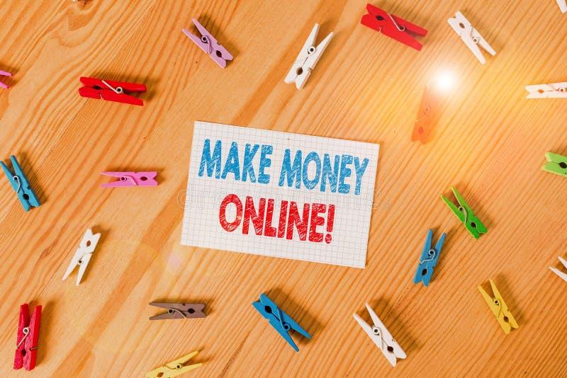 Handwriting text writing Make Money Online. Concept meaning making profit using internet like freelancing or marketing. Handwriting text writing Make Money royalty free stock photo