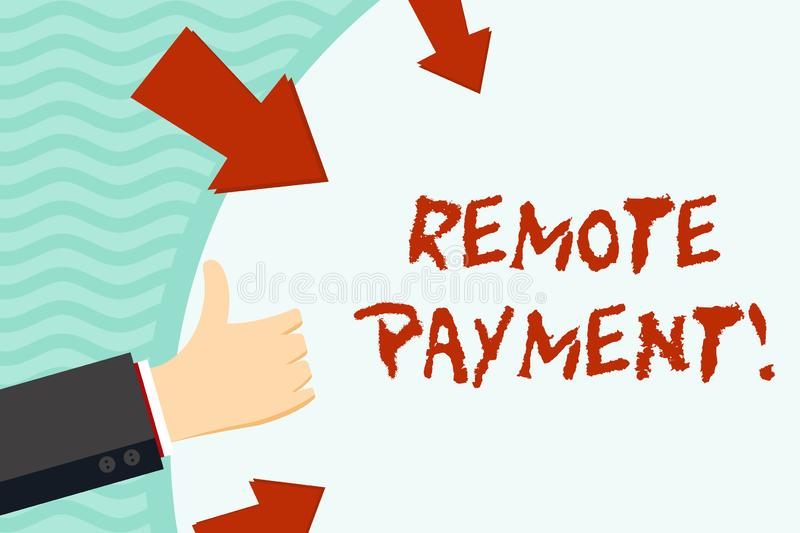 Handwriting text writing Remote Payment. Concept meaning payment transaction initiated via internet or from a device royalty free illustration