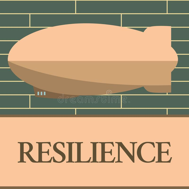 Handwriting text writing Resilience. Concept meaning Capacity to recover quickly from difficulties Persistence.  royalty free illustration