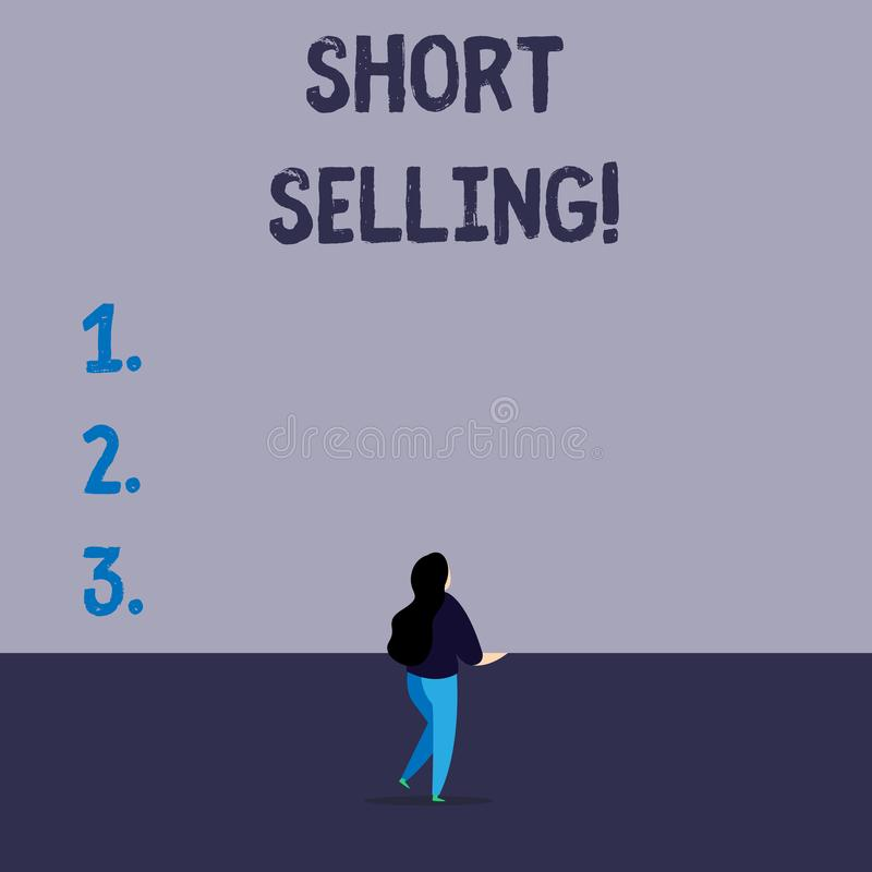 Handwriting text writing Short Selling. Concept meaning Act of selling an asset that you do not currently own. Handwriting text writing Short Selling vector illustration