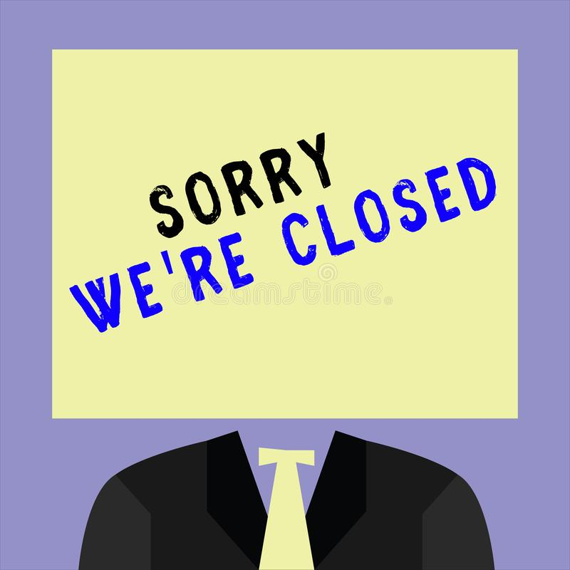 Sorry Sign Stock Illustrations