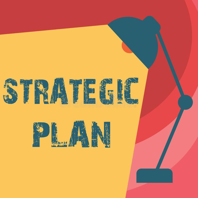 Handwriting text writing Strategic Plan. Concept meaning A process of defining strategy and making decisions.  stock illustration