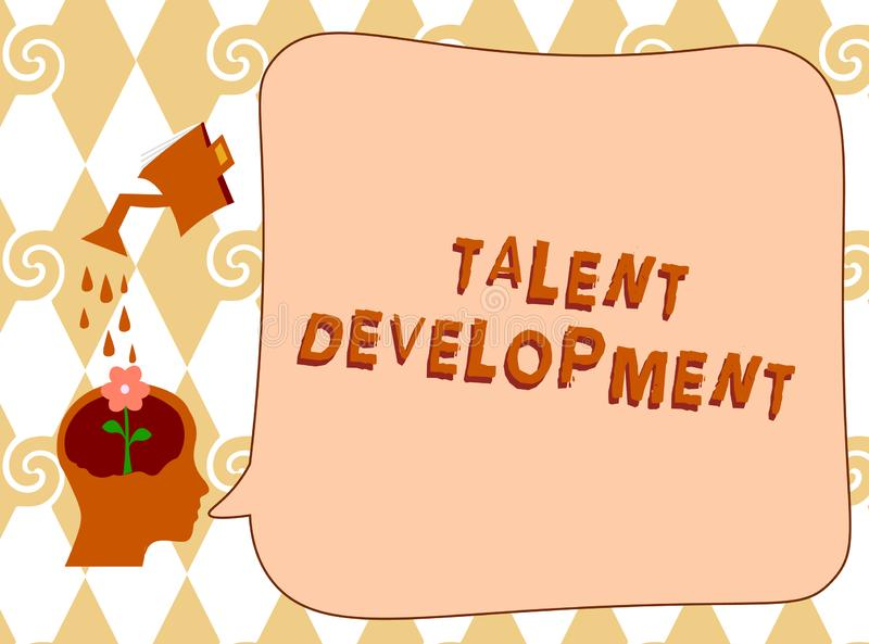 Handwriting text writing Talent Development. Concept meaning Building Skills Abilities Improving Potential Leader.  vector illustration