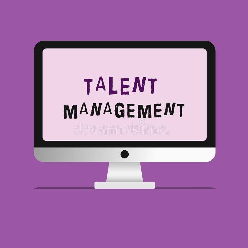 Handwriting text writing Talent Management. Concept meaning Acquiring hiring and retaining talented employees.  royalty free illustration