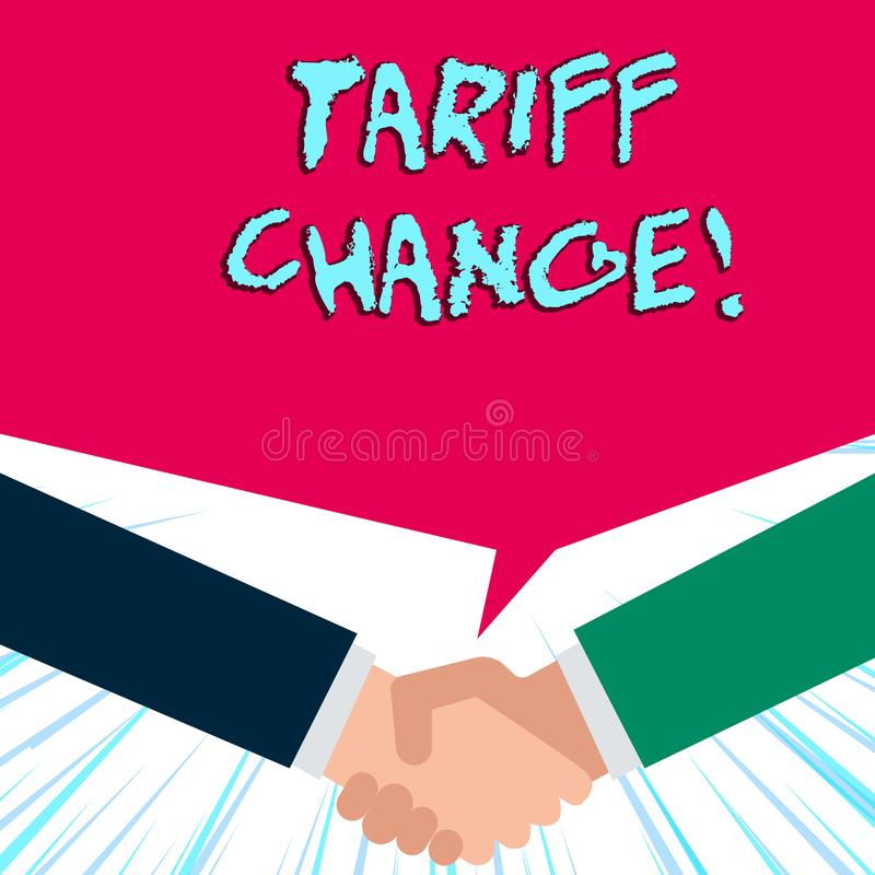 Handwriting text writing Tariff Change. Concept meaning Changes on tax imposed on imported goods and services. Handwriting text writing Tariff Change vector illustration