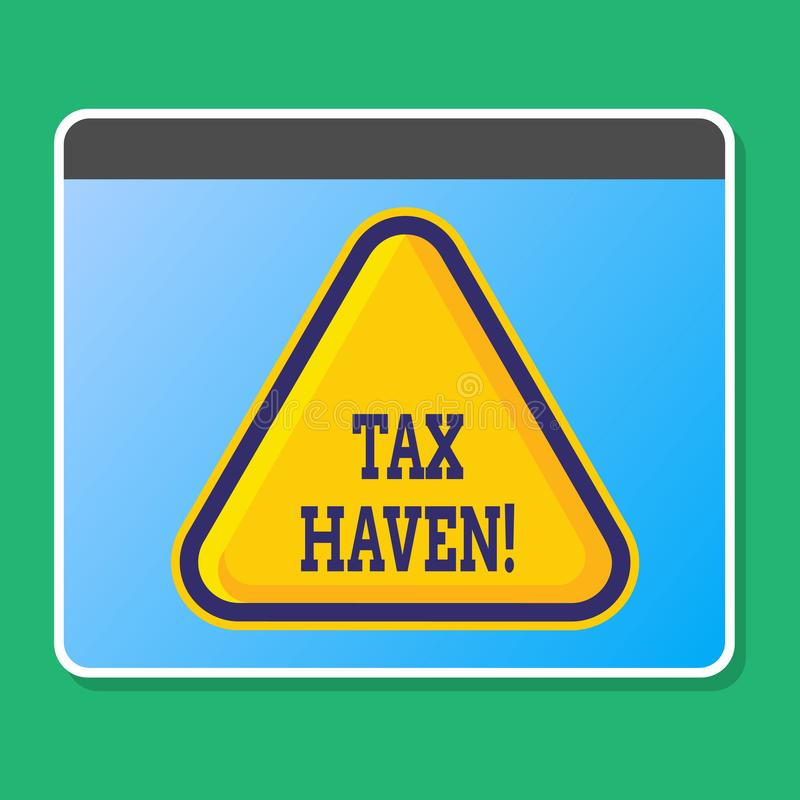 Handwriting text writing Tax Haven. Concept meaning country or independent area where taxes are levied at low rate Blank. Handwriting text writing Tax Haven royalty free illustration