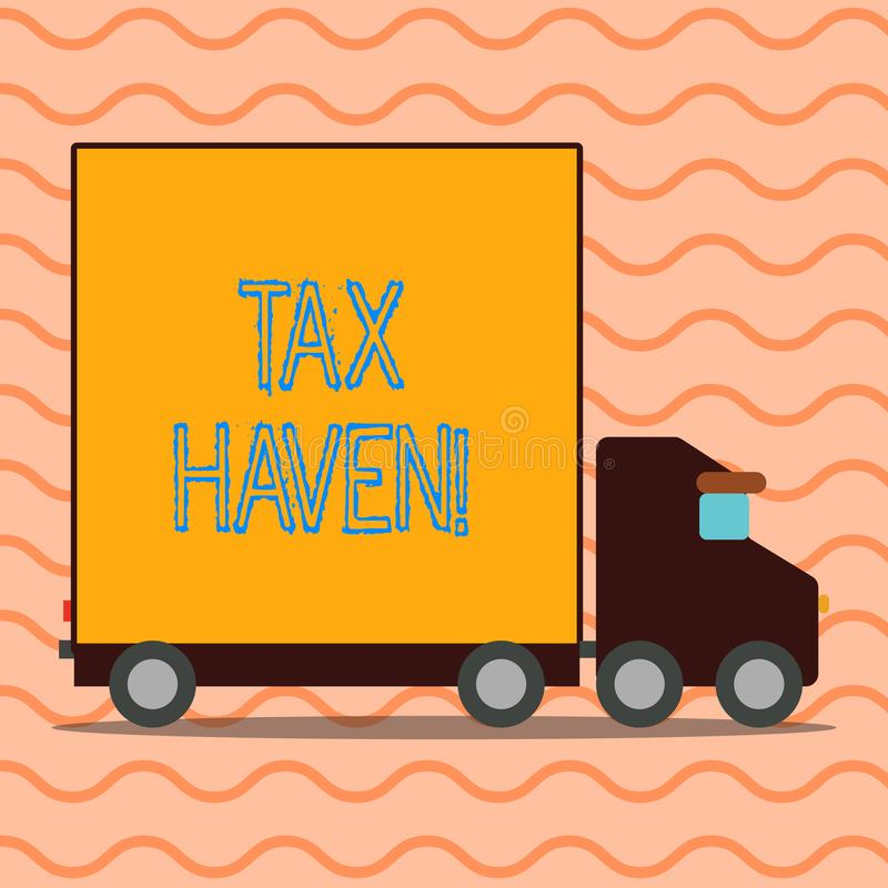 Handwriting text writing Tax Haven. Concept meaning country or independent area where taxes are levied at low rate. Handwriting text writing Tax Haven stock illustration