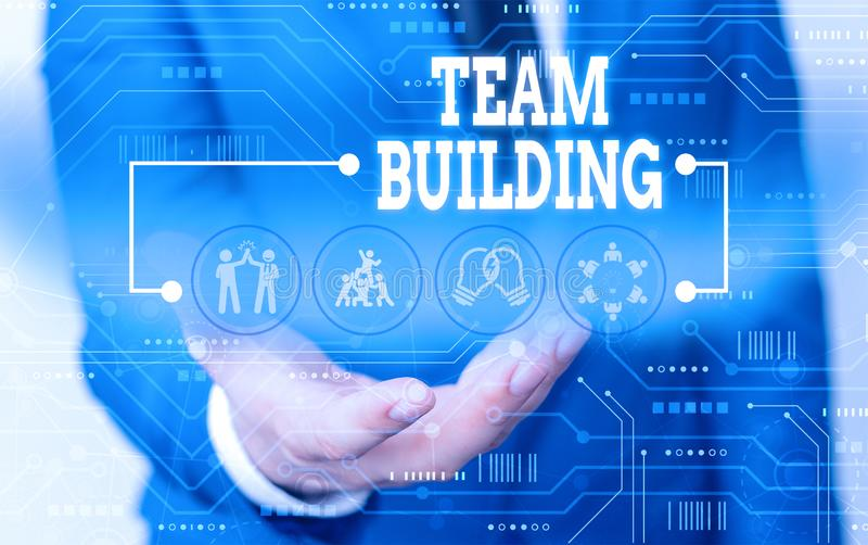 Handwriting text writing Team Building. Concept meaning various types of activities used to enhance social relations. Handwriting text writing Team Building royalty free stock photography