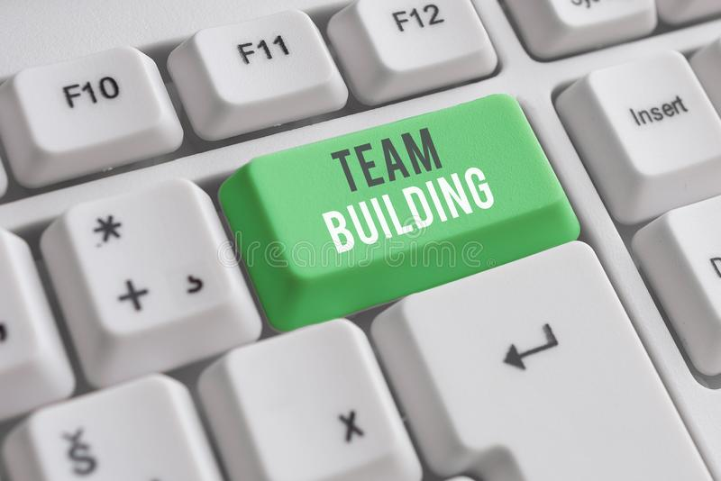 Handwriting text writing Team Building. Concept meaning various types of activities used to enhance social relations. Handwriting text writing Team Building stock photos
