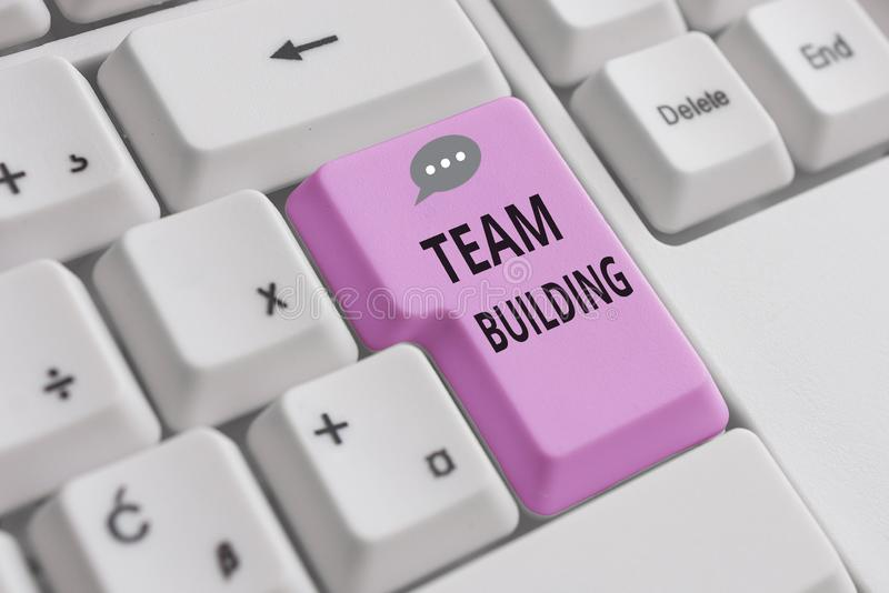 Handwriting text writing Team Building. Concept meaning various types of activities used to enhance social relations. Handwriting text writing Team Building stock photo