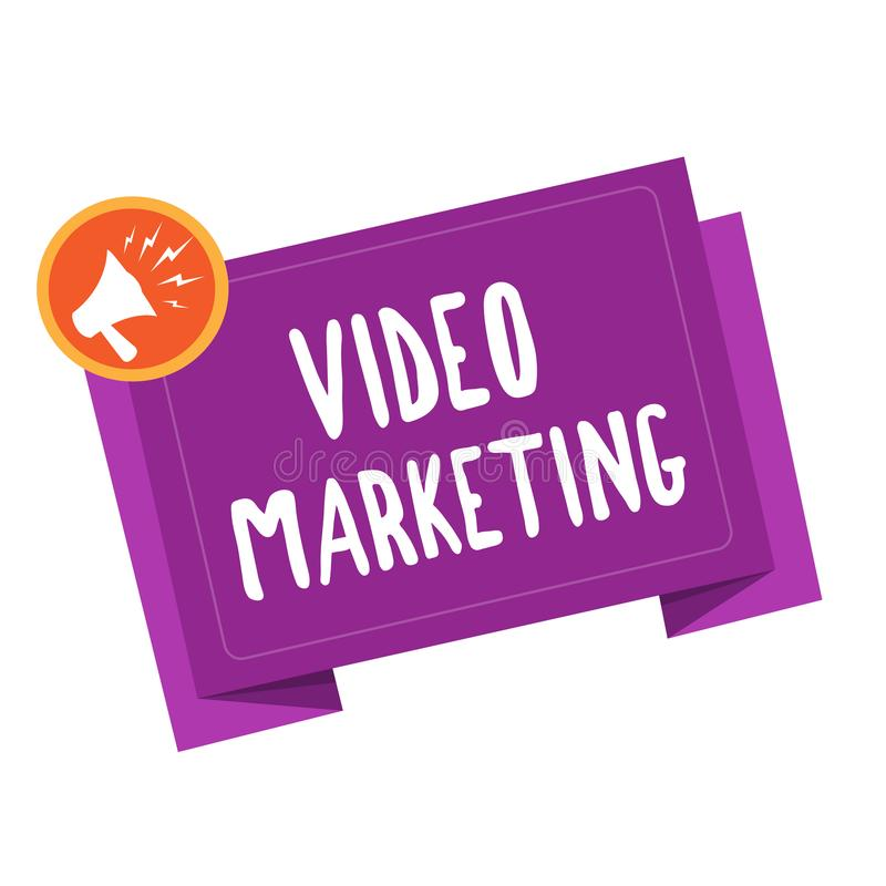 Handwriting text writing Video Marketing. Concept meaning create short videos about specific topics using articles.  vector illustration