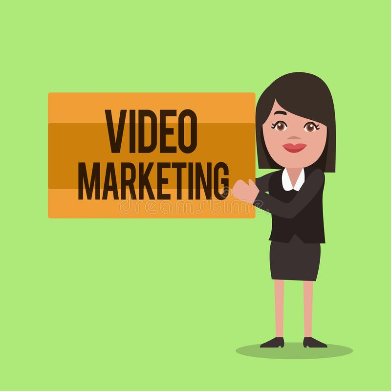 Handwriting text writing Video Marketing. Concept meaning create short videos about specific topics using articles.  royalty free illustration