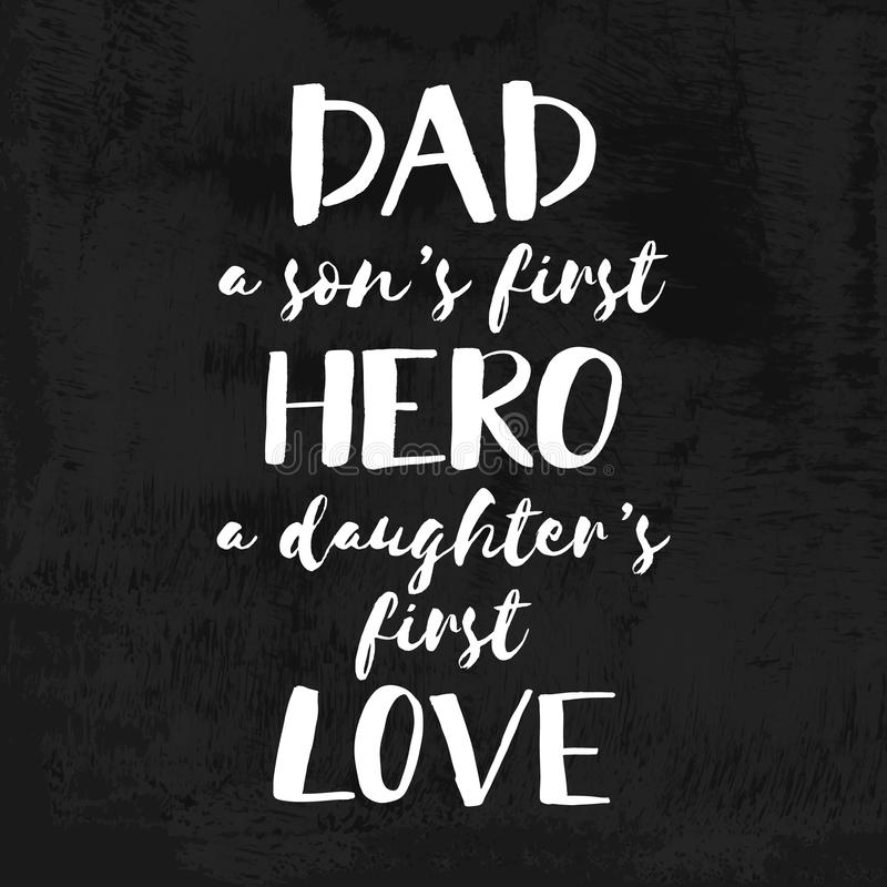 Free Handwritten Brush Chalk Lettering Card For Dad. Chalkboard Quote For Fathers Day. Happy Father`s Day T-shirt Design Element Royalty Free Stock Photo - 97438965