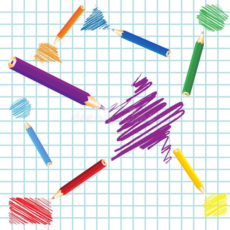 Handwritten geometric figures. Illustration