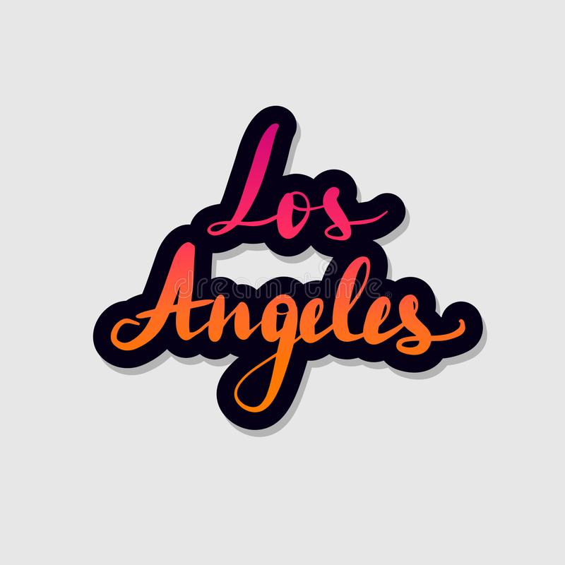 Handwritten lettering typography Los Angeles. vector illustration