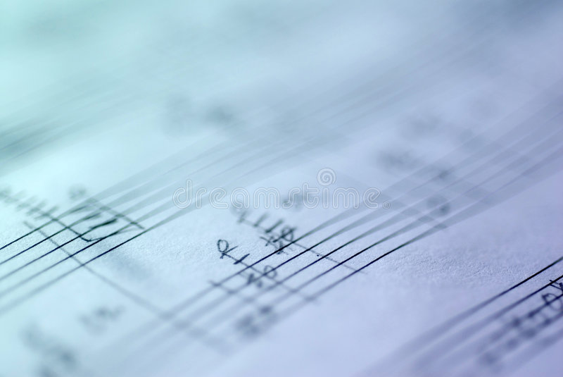 Handwritten Musical Score royalty free stock photography