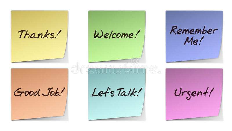 Download Handwritten Post-It Notes stock illustration. Image of stationery - 16758929