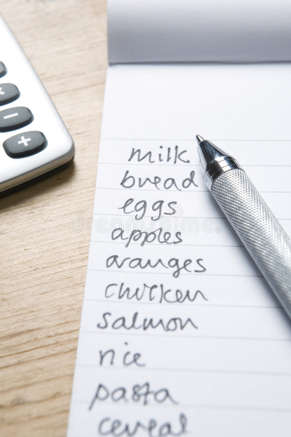 Download Handwritten Shopping List Stock Photo - Image: 7518770