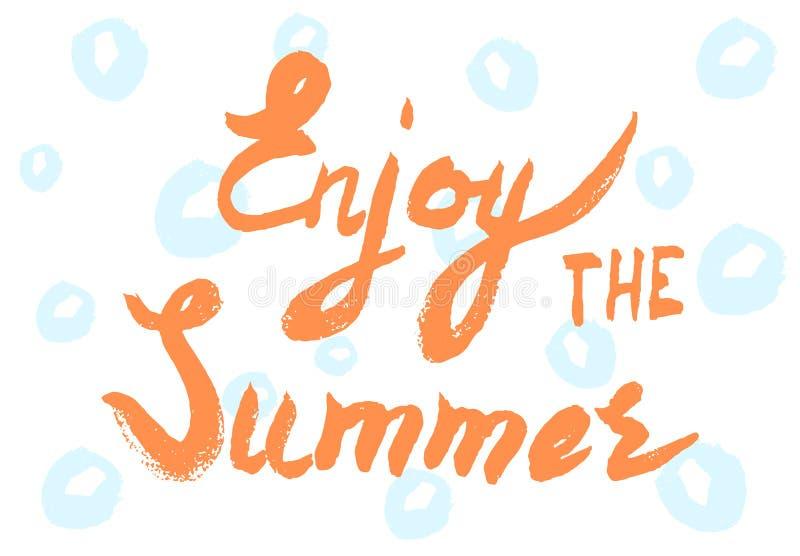 Handwritten summer lettering stock images