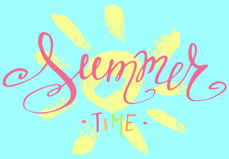 Handwritten summer lettering royalty free stock photos
