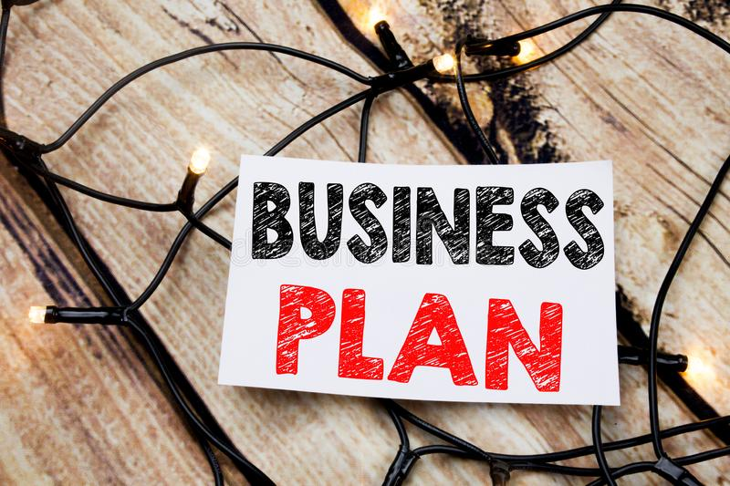 Handwritten text caption showing Business Plan Planning. Business concept writing for Preparation Project Strategy written on stic. Handwritten text caption stock photos