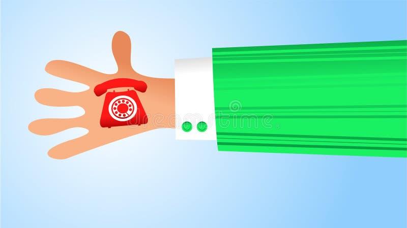 Handy communication vector illustration