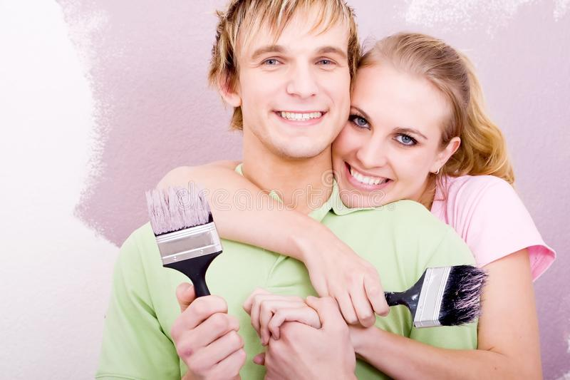 Download Handy couple stock image. Image of intimacy, laugh, first - 10596031