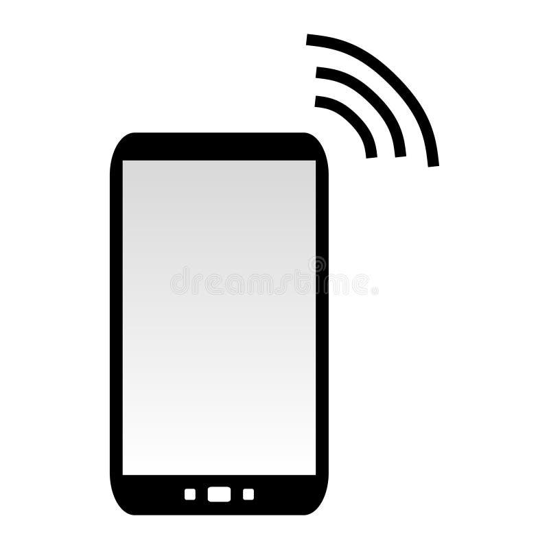 Handy, der Daten sendet lizenzfreie abbildung
