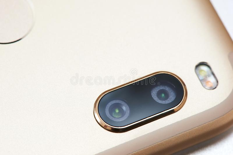 Handy-Doppelkamera stockfotografie