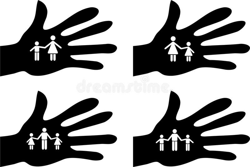 Download Handy family stock illustration. Image of standing, community - 4351544