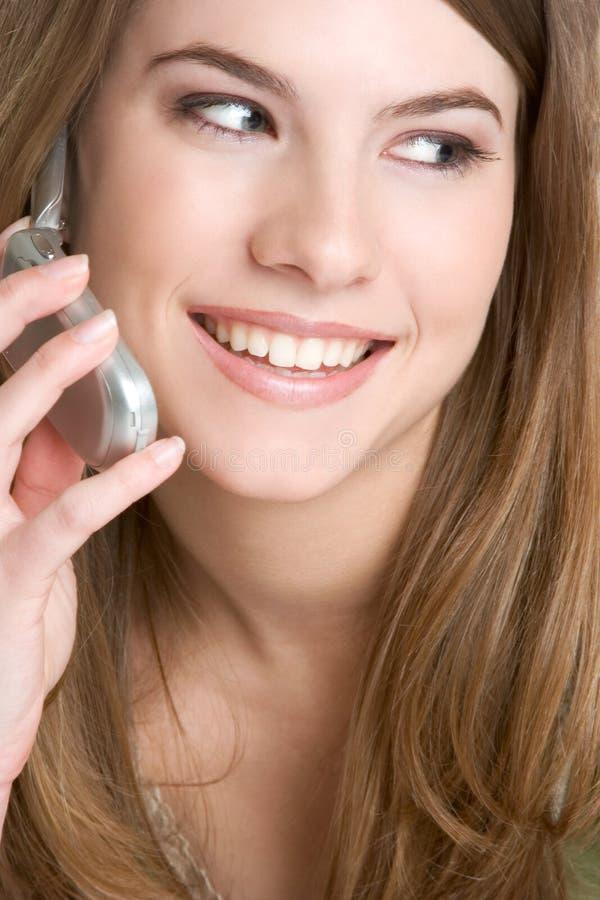 Handy-Frau lizenzfreies stockbild