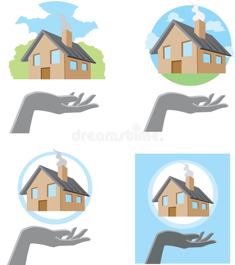 Download Handy House stock vector. Image of real, showing, erecting - 34858761
