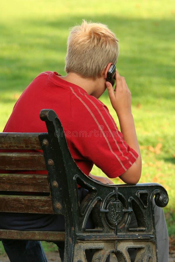 Handy-Kommunikation. stockfoto