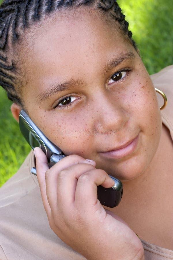 Handy-Mädchen lizenzfreie stockfotografie