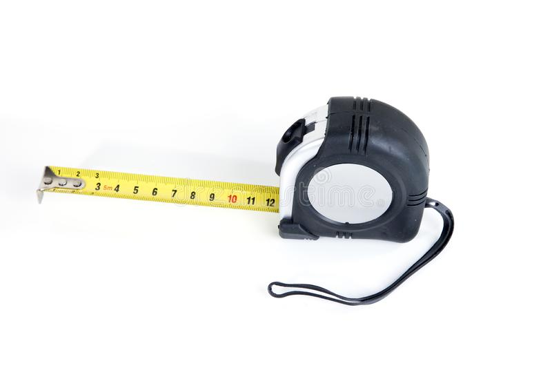 Measuring tool on a white background stock photography