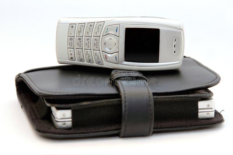 Handy mit Organisator 2 lizenzfreie stockfotos
